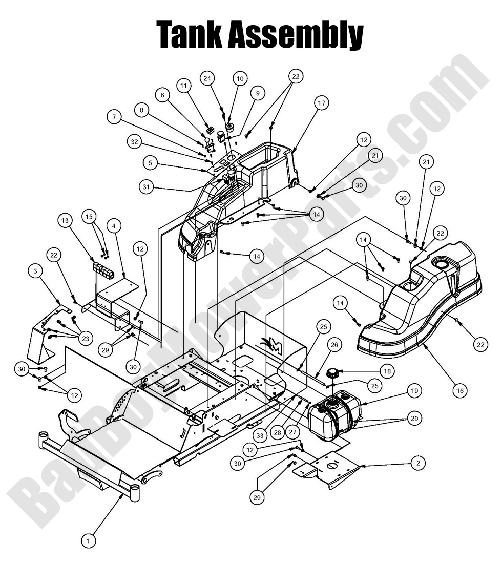 bad boy mower parts more information bad boy mower parts 2016 mz magnum fuel tank assembly diagram