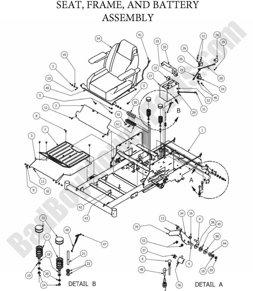 bad boy mowers wiring diagram    bad       boy    parts lookup 2013 zt elite seat frame     bad       boy    parts lookup 2013 zt elite seat frame