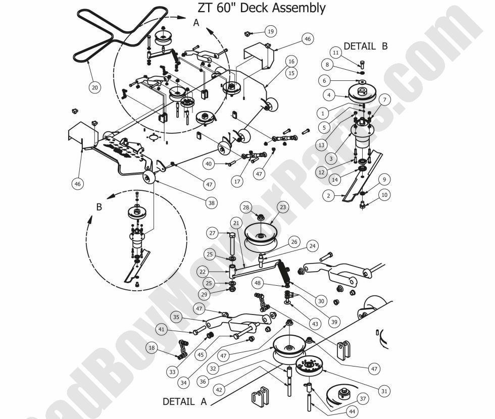 bad boy mowers wiring diagram    bad       boy    parts lookup 2012 zt 60  deck     bad       boy    parts lookup 2012 zt 60  deck