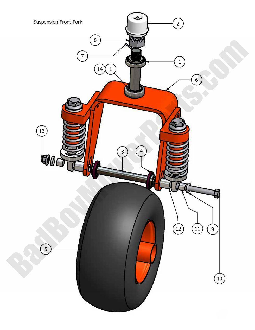 bad boy parts lookup 2007 aos suspension front fork Huskee Garden Tractor Model 808K MTD Huskee Lawn Tractor Manual