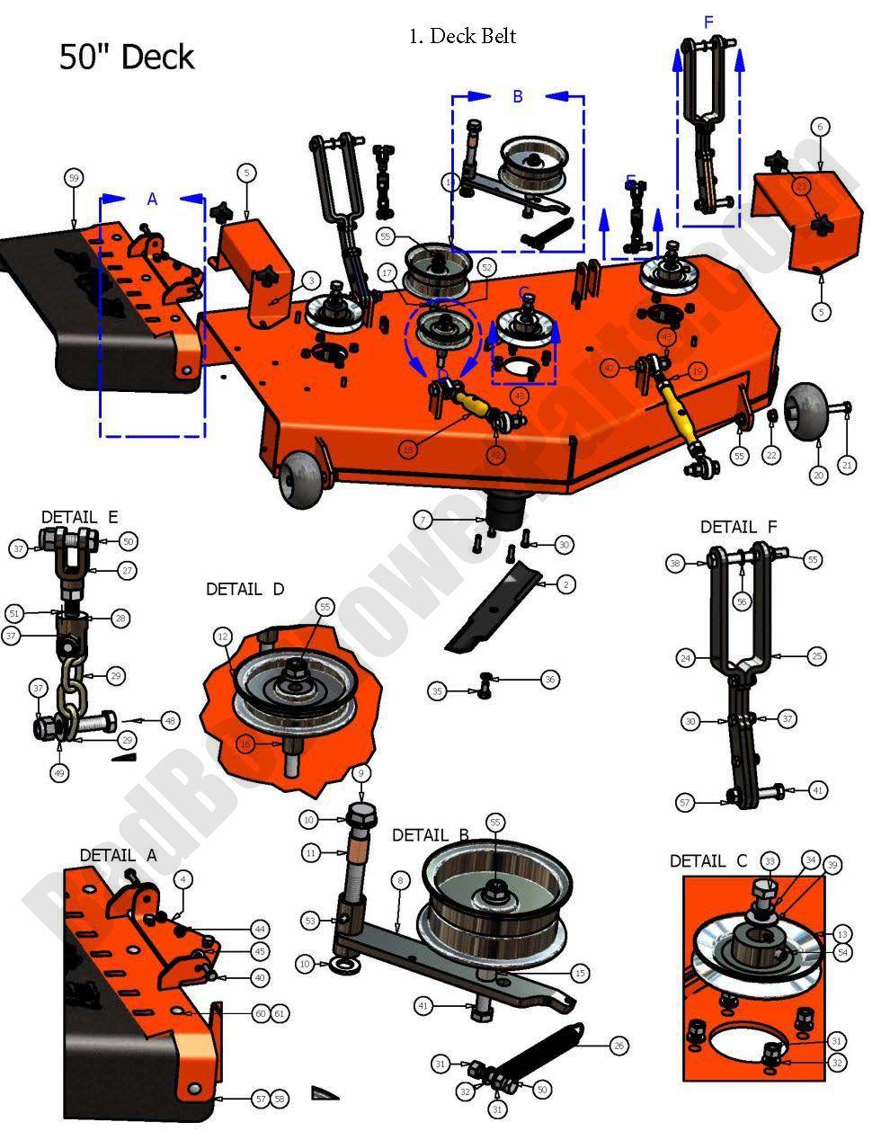 Bad Boy Parts Lookup 2007 Zt 50 U0026quot  Deck