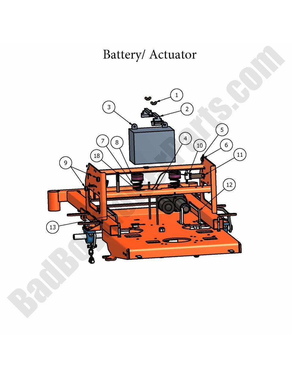 bad boy parts lookup 2007 zt battery actuator. Black Bedroom Furniture Sets. Home Design Ideas