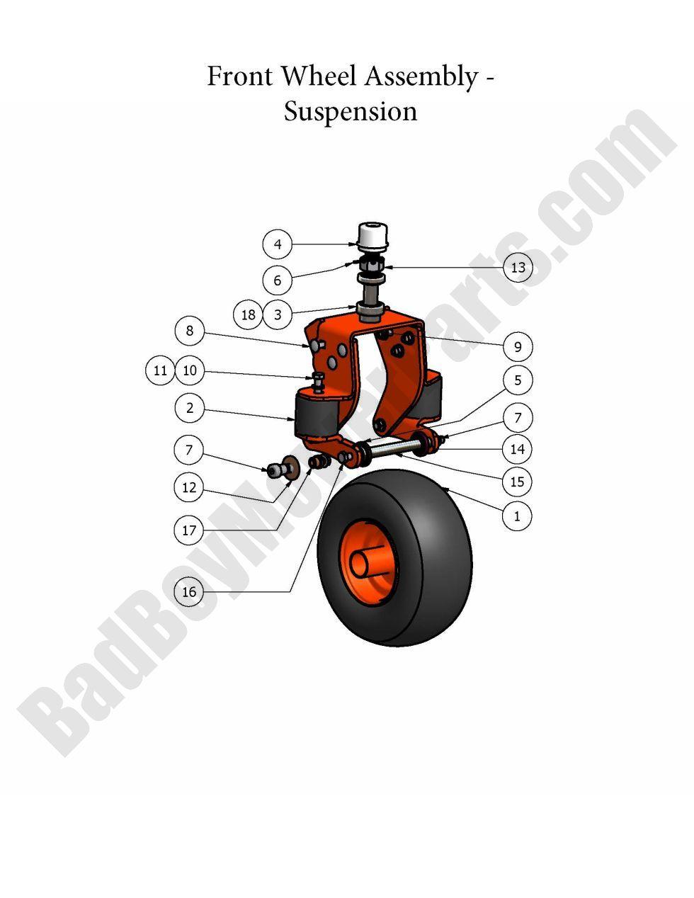 """Wheel Bolt Bad Boy 018-3002-00 1//2/""""-13 X 10/"""""""