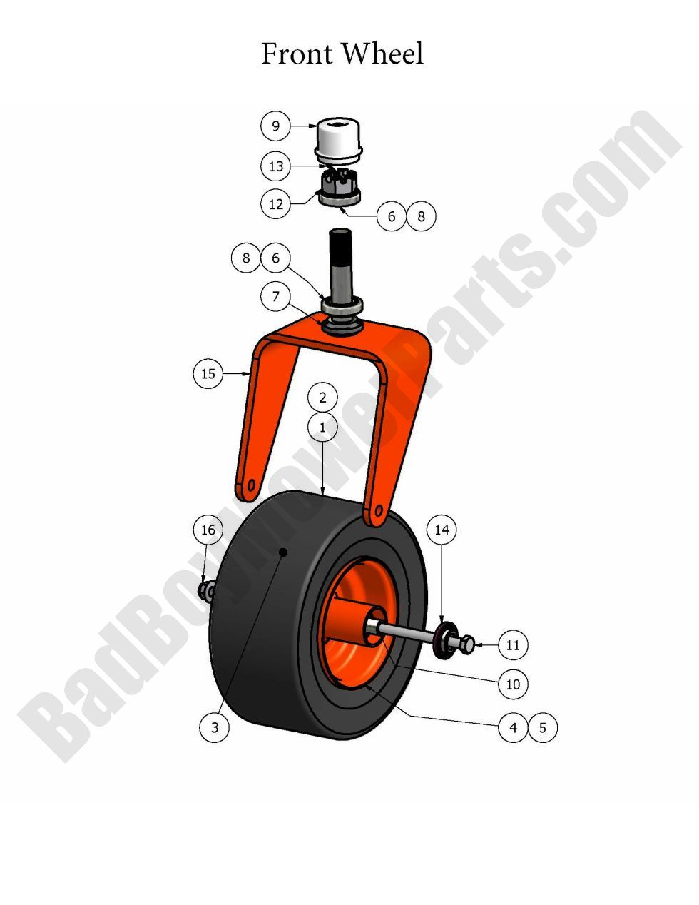 Bad Boy Parts Lookup 2008 Zt Front Wheel