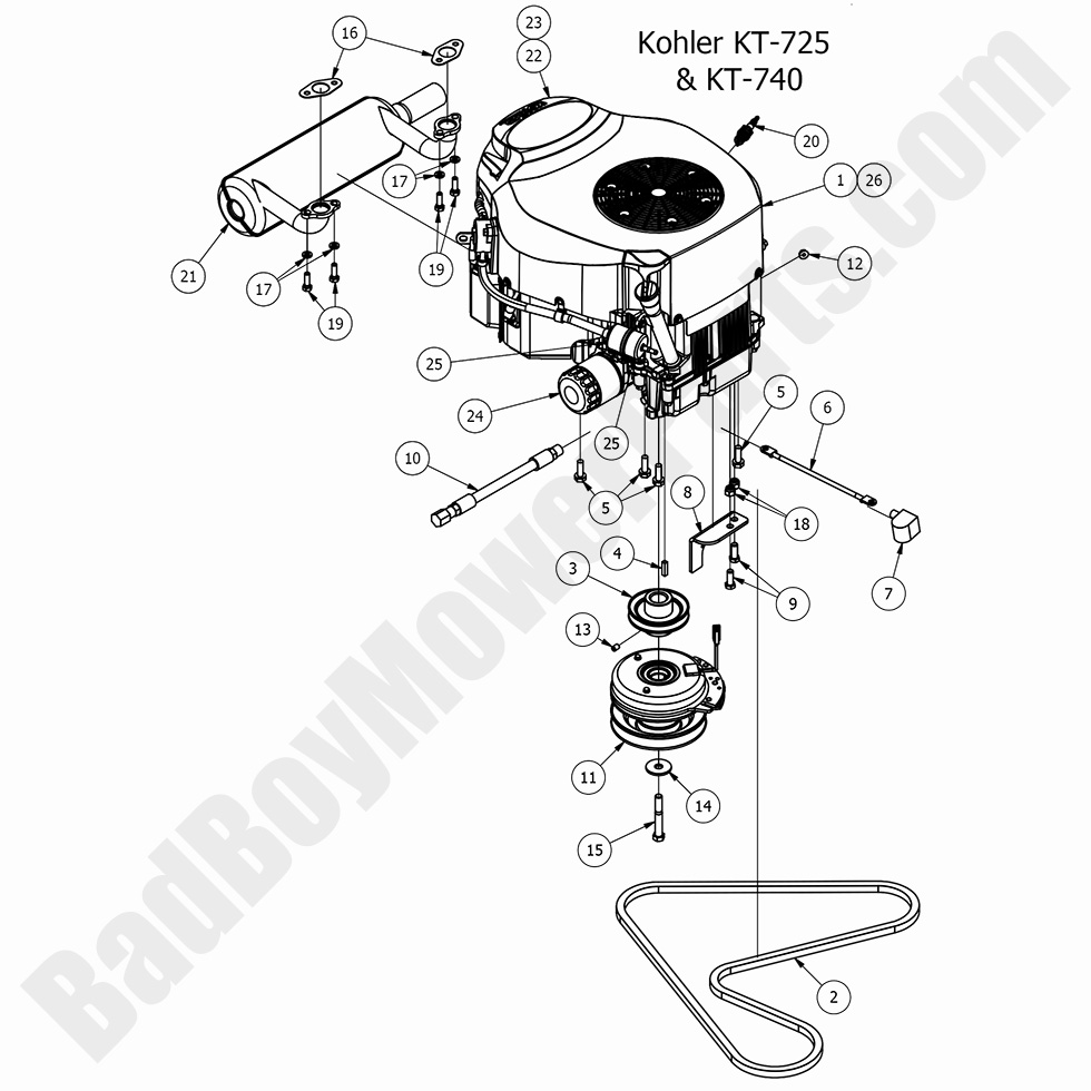 Bad Boy Mower Parts Lookup 2017 Mz Amp Mz Magnum Engine