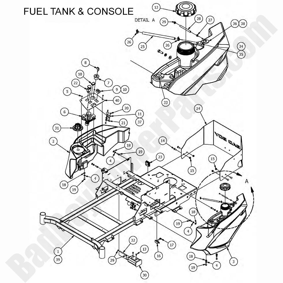 Bad Boy Mower Parts Lookup 2017 Mz Mz Magnum Fuel Tank Console