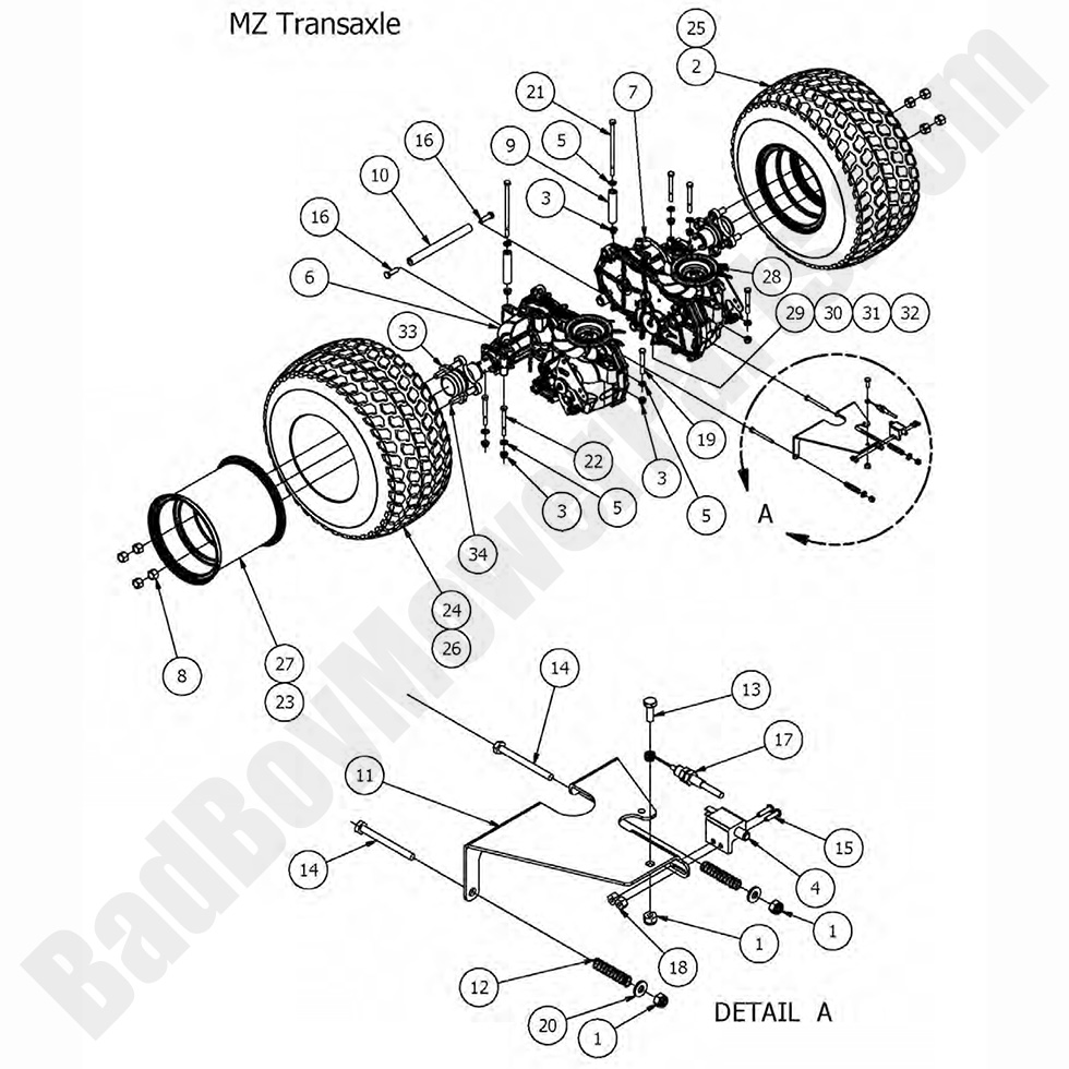 MZ Brake Gear Bad Boy 050-4034-00