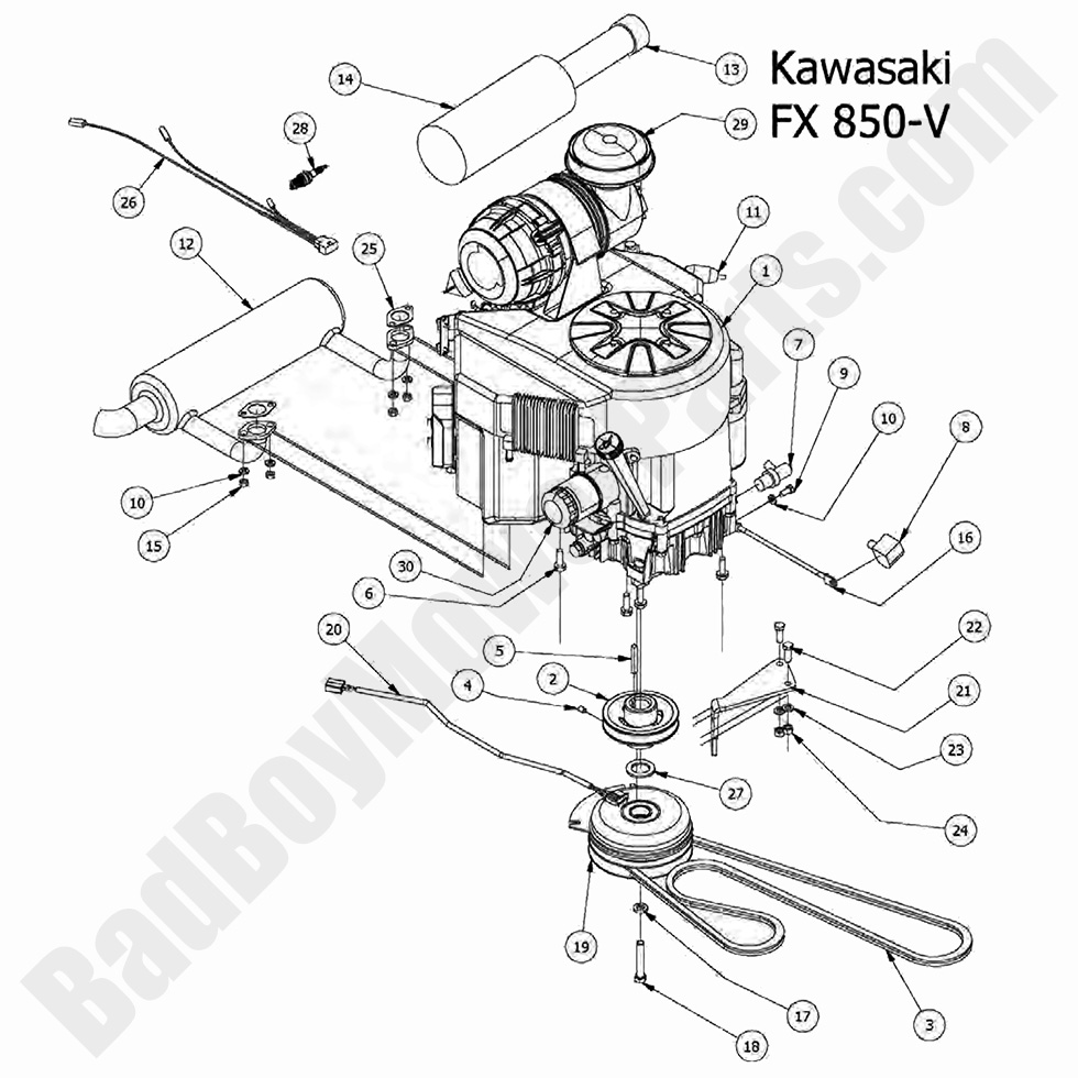 bad boy mower parts lookup|2017 outlaw xp|engine - kawasaki fx850v  bad boy mower parts