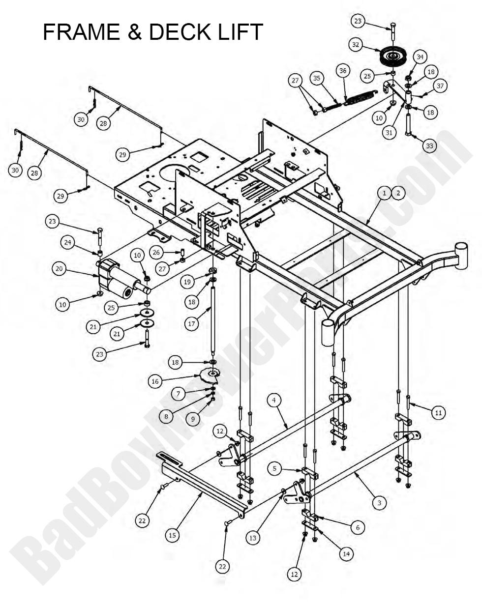 bad boy mower parts lookup 2017 zt elite frame deck lift. Black Bedroom Furniture Sets. Home Design Ideas