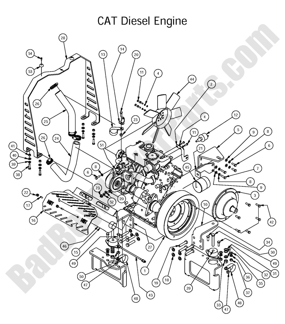 bad boy mower parts 2016 diesel 1500cc cat diesel engine assembly Aircraft Engine Schematics position number, sku, product title, price