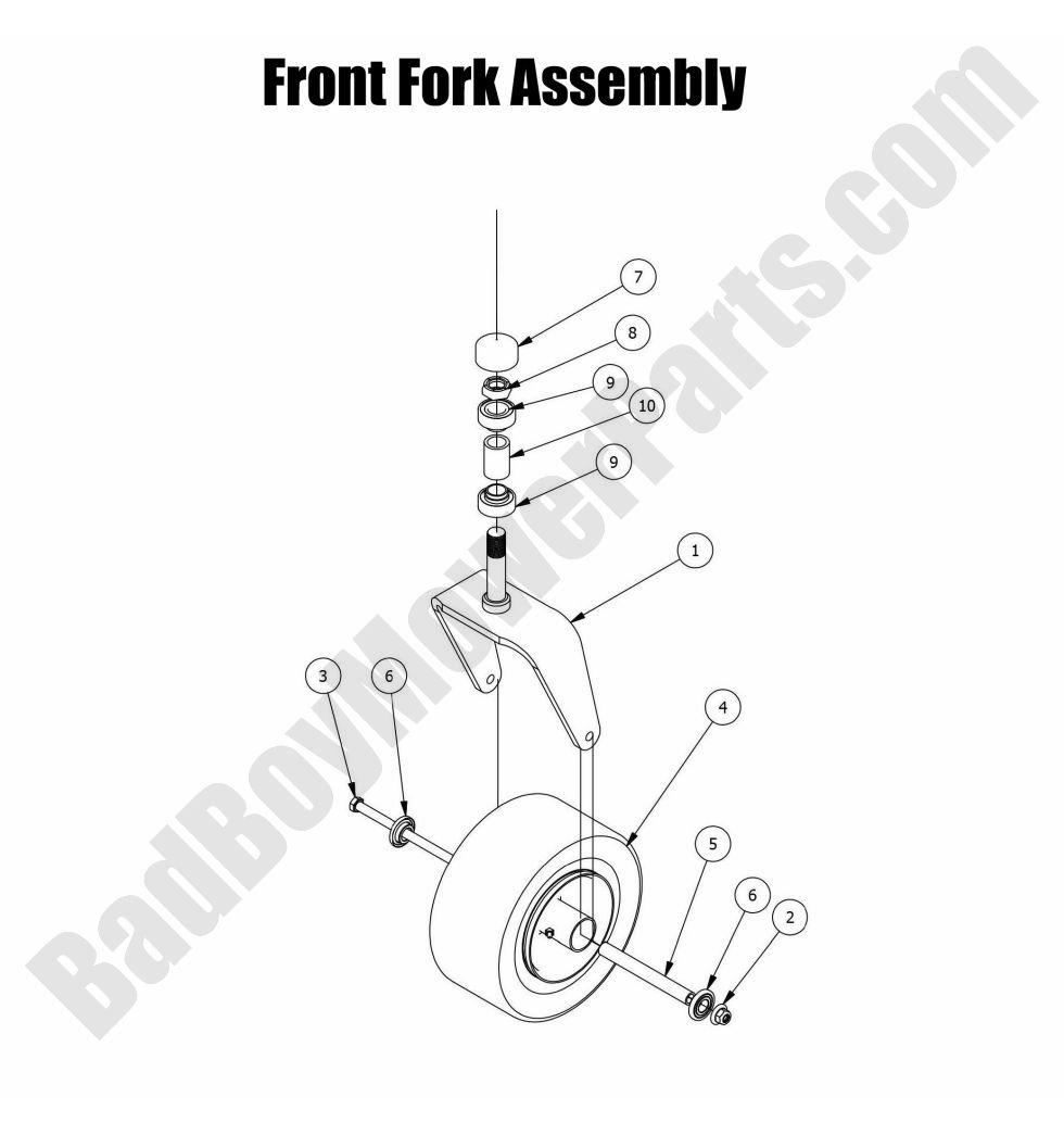 2015 Czt Elite Front Fork Assembly Diagram