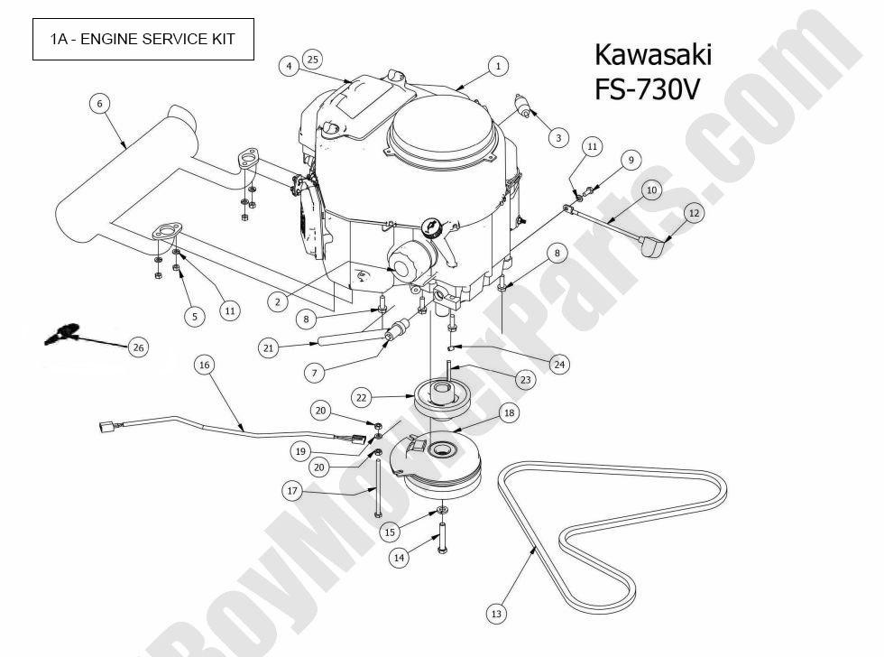 Position Number Sku Product Title Price: Kawasaki Fs730v Engine Parts Diagram At Downselot.com