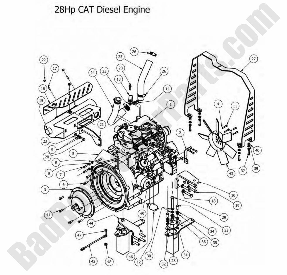 bad boy parts lookup 2012 diesels engine  28hp