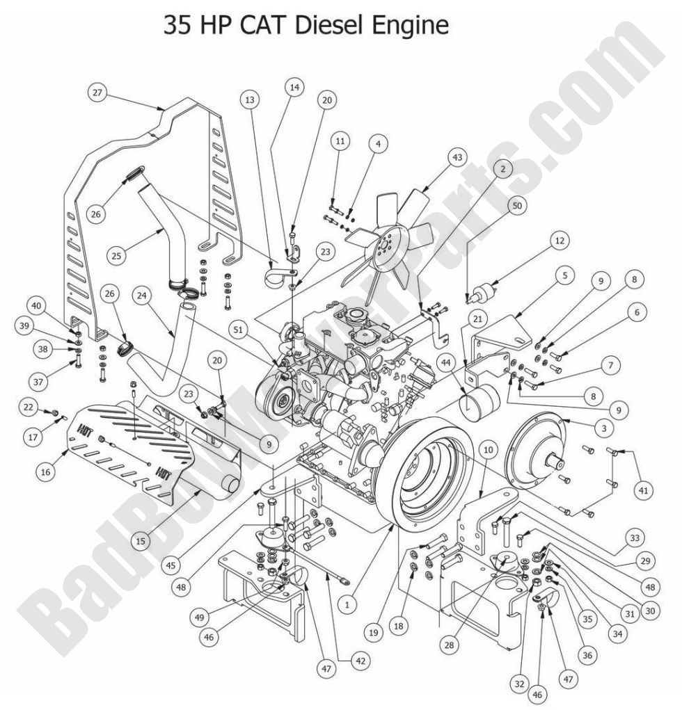 caterpillar engine parts diagrams