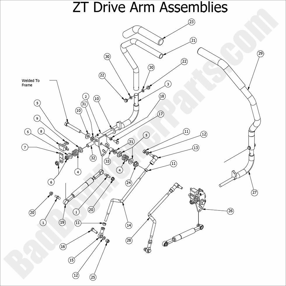bad boy mower parts 2016 zt elite drive arm assembly diagram. Black Bedroom Furniture Sets. Home Design Ideas