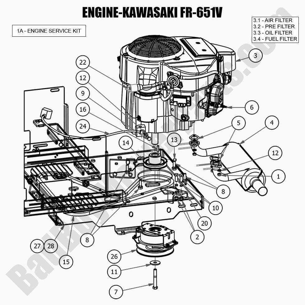 Bad Boy Mower Parts Lookup|2018 MZ|Engine - Kawasaki FR-651V