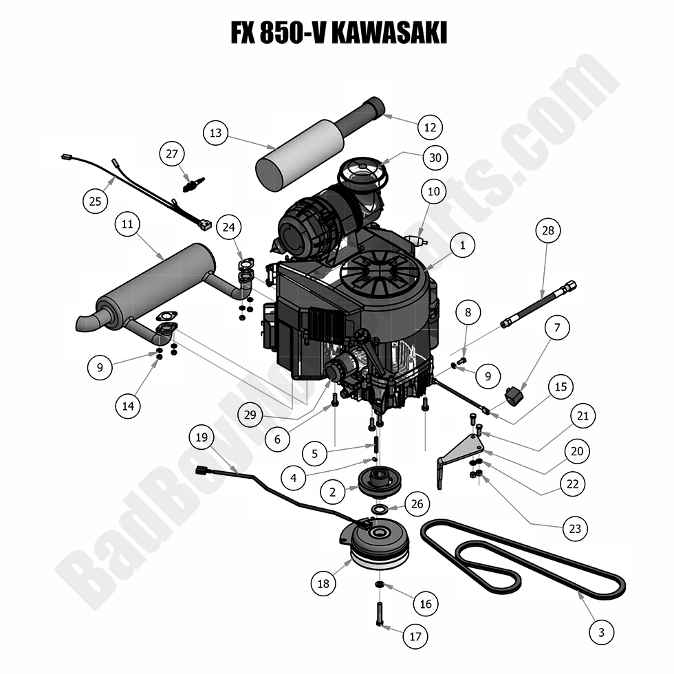 bad boy mower parts lookup|2018 outlaw xp|engine - kawasaki fx850v  bad boy mower parts