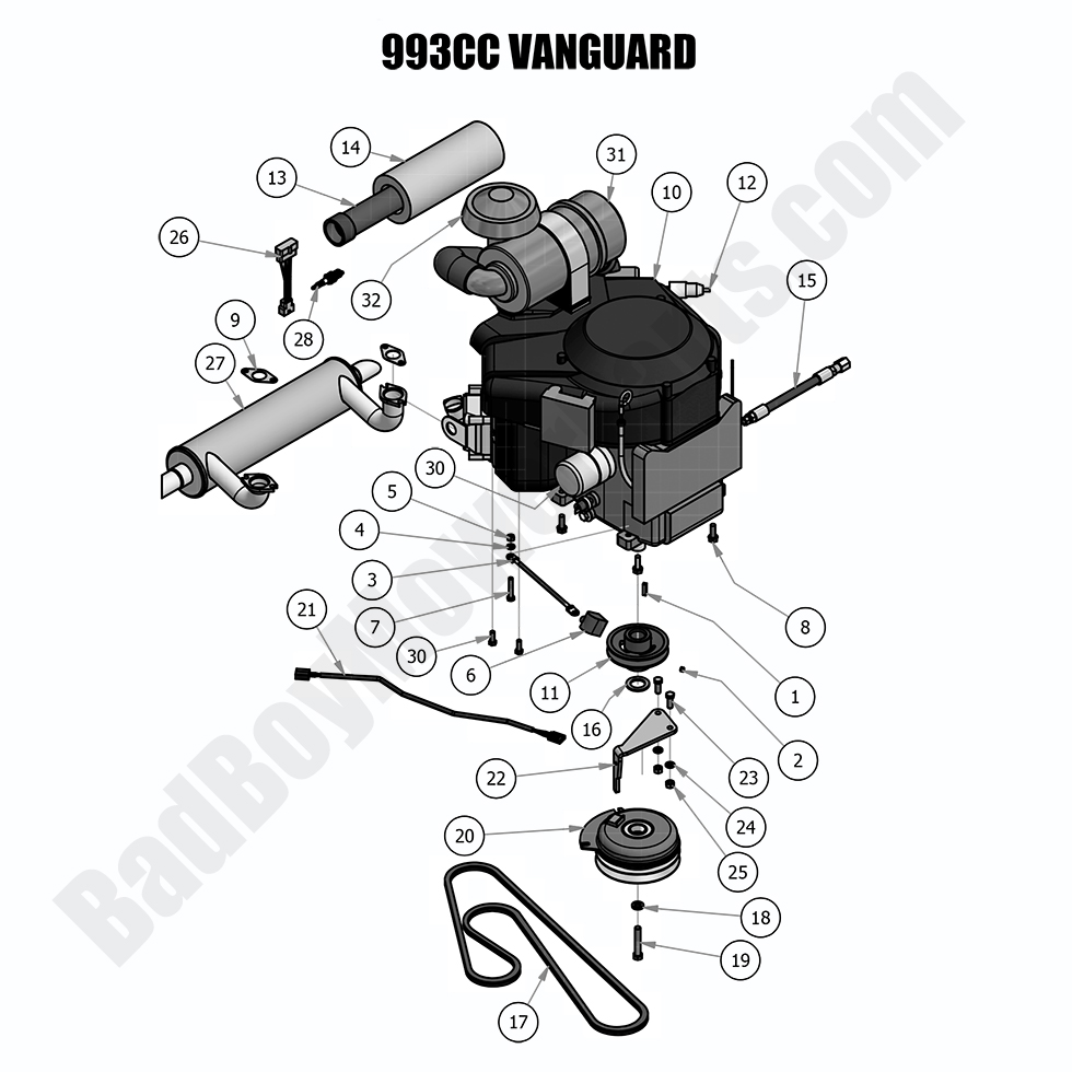 Bad Boy Mower Parts Lookup 2018 Outlaw Xp Engine Vanguard 993cc Fuel Filter Position Number Sku Product Title Price