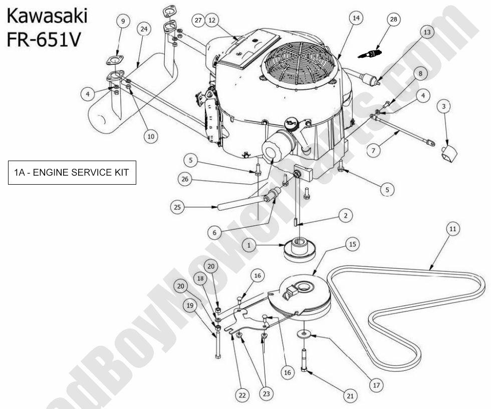 Bad Boy Parts Lookup - 2014 MZ Kawasaki Engine FR-651V