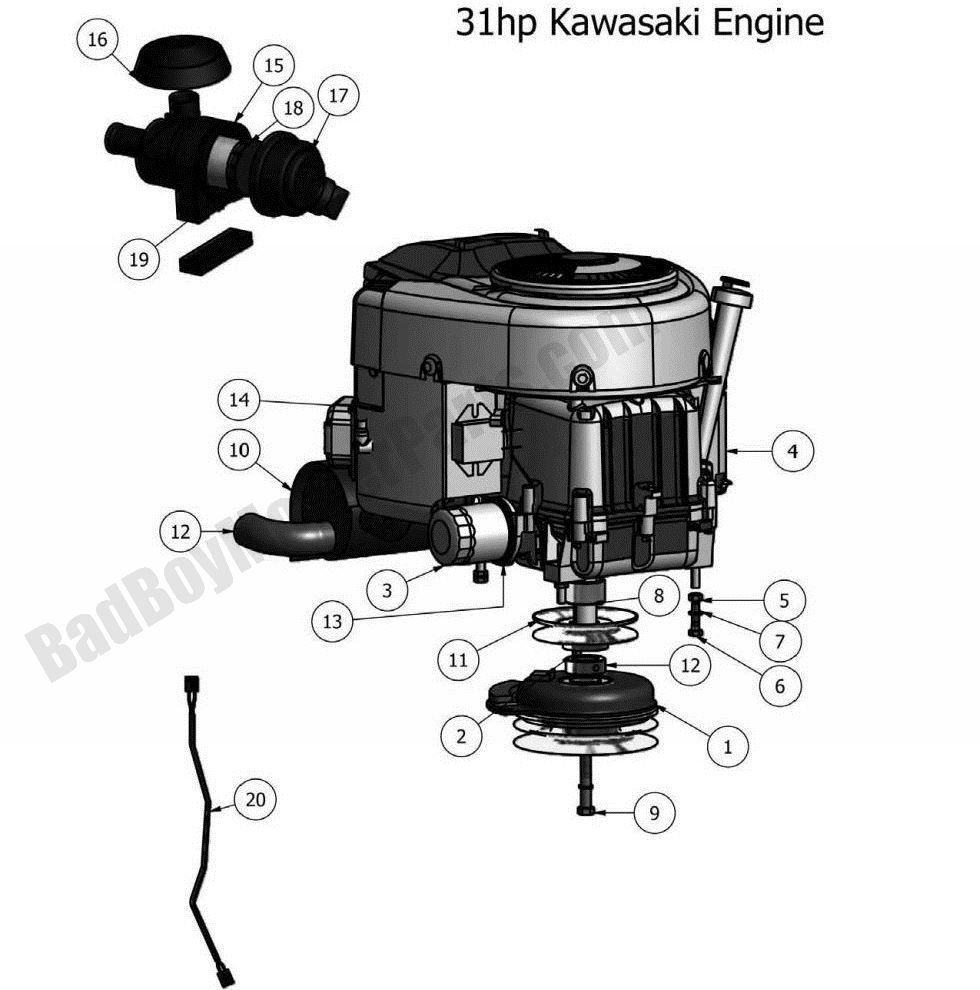 Bad Boy Parts Lookup 2011 Outlaw Engine (31Hp Kawasaki)