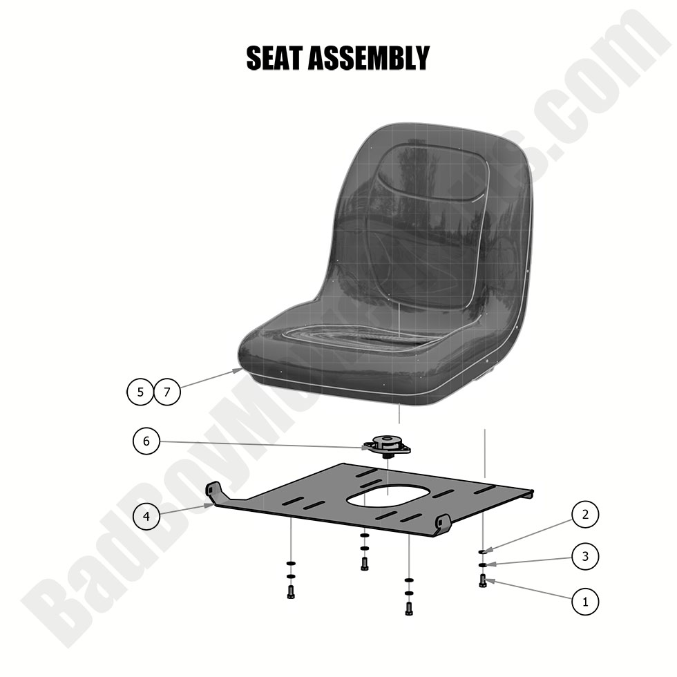Superb Bad Boy Mower Parts Lookup 2019 Mz Mz Magnum Seat Assembly Beatyapartments Chair Design Images Beatyapartmentscom