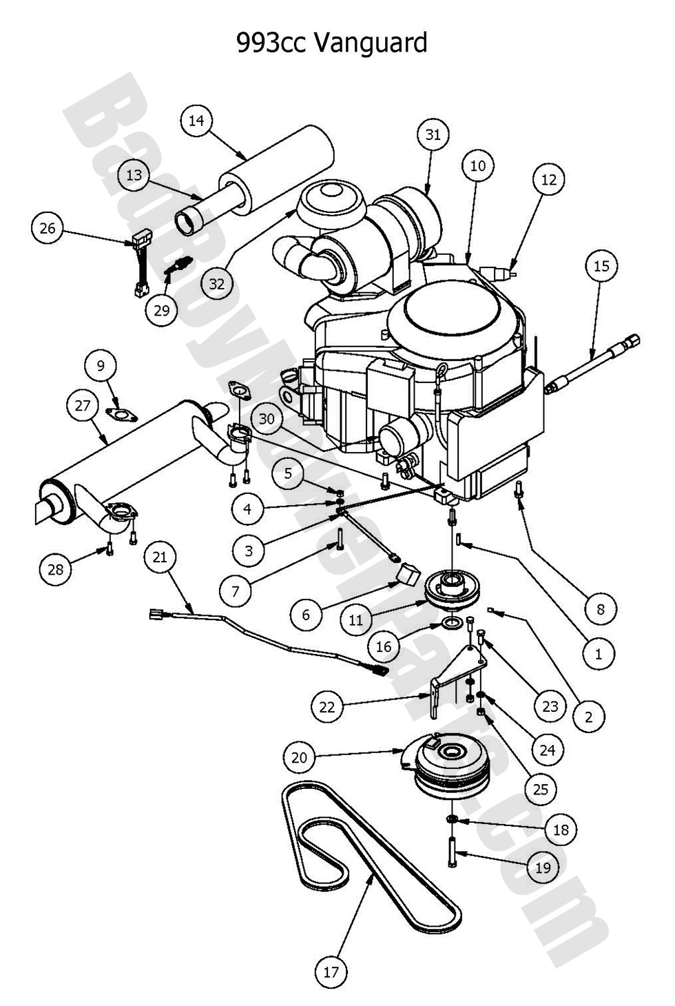 Bad Boy Mower Parts 2016 Outlaw Xp Engine Vanguard 993cc Diagram Wiring 3 Position Number Sku Product Title Price