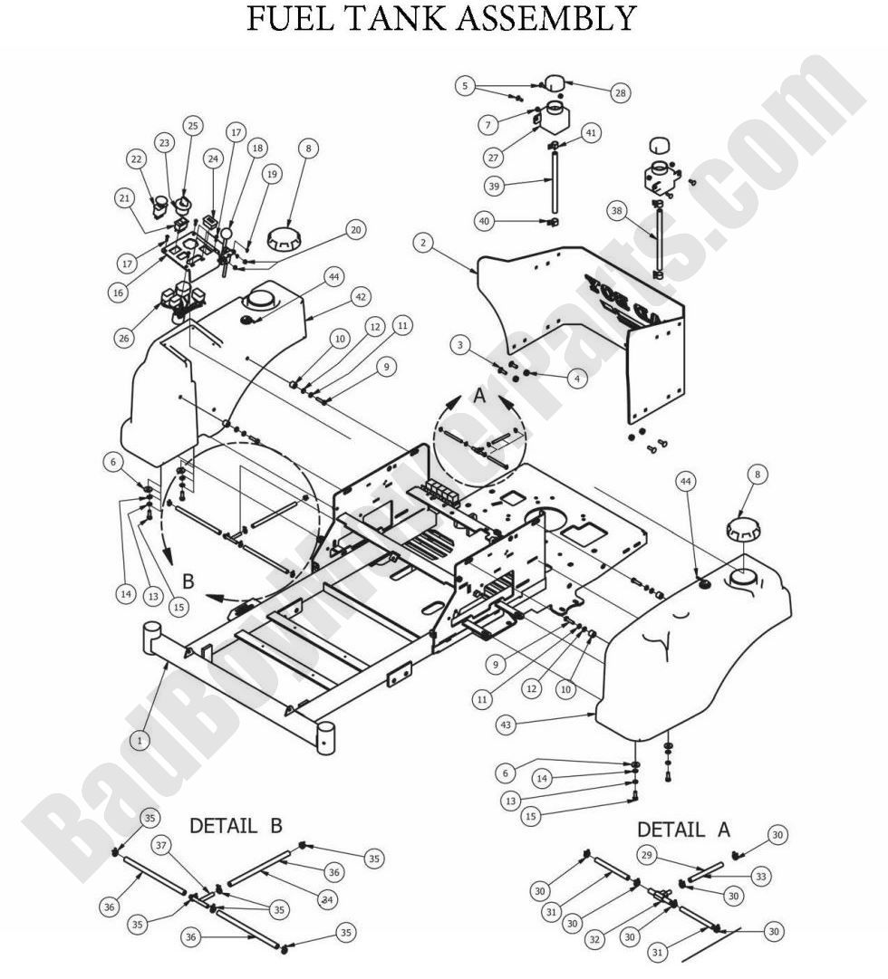 bad boy mowers wiring diagram    bad       boy    parts lookup 2013 zt elite fuel tank assembly     bad       boy    parts lookup 2013 zt elite fuel tank assembly