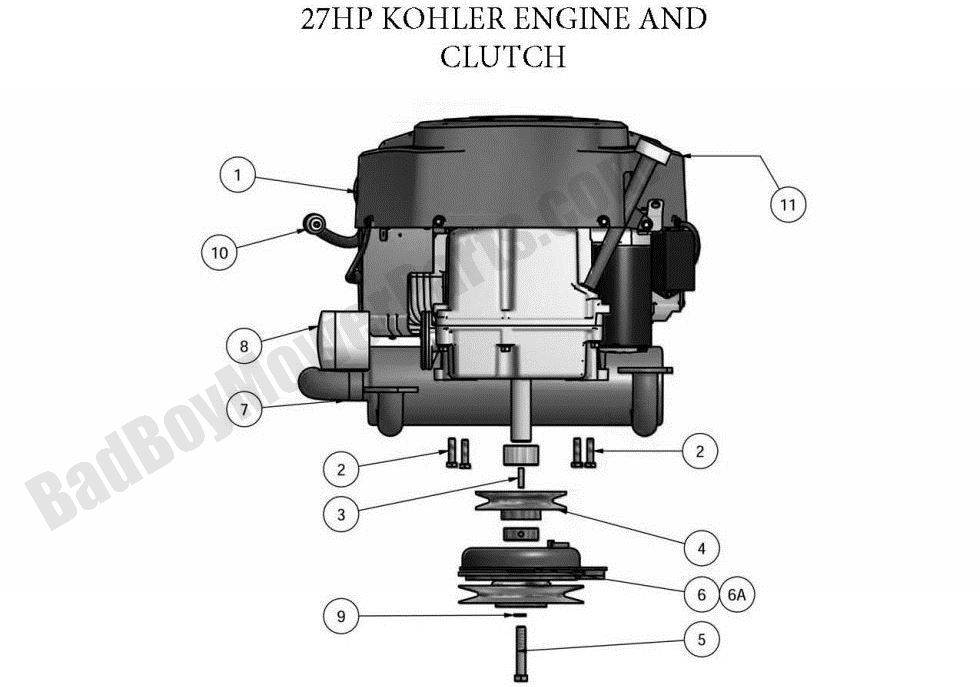 27 Hp Kohler Engine Diagram Wiring Source. Bad Boy Parts Lookup 2011 Zt Engine 27hp Kohler Rh Badboymowerparts 27 Hp Manual Mand. Wiring. Kohler Mand 27 Engine Diagram At Eloancard.info